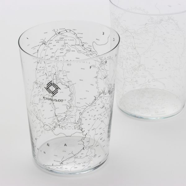 Nautical chart Tumbler (Black, White)